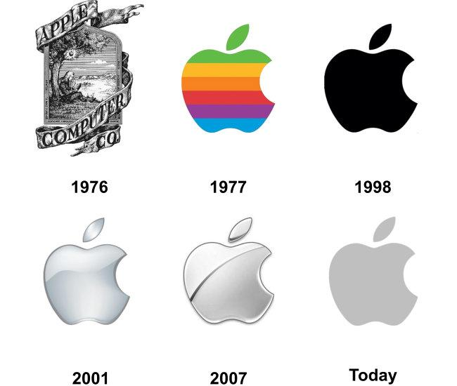Apple's logos throughout the years